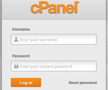 Inicie sesión en cPanel