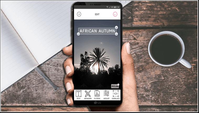 Use su teléfono inteligente para agregar texto a las fotos