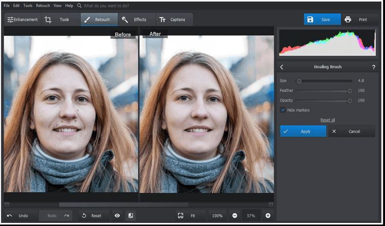 Elimina las manchas de las fotos con unos pocos clics