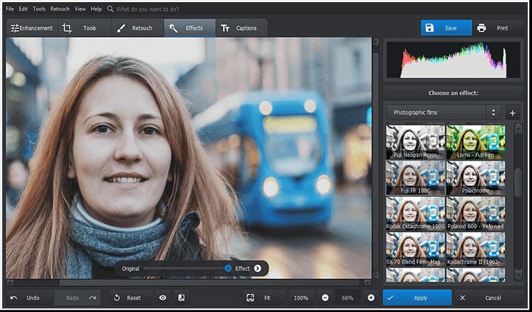 Aplicar algunos efectos de filtro artístico a la foto editada