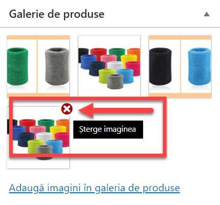 Eliminar imágenes de la galería de productos