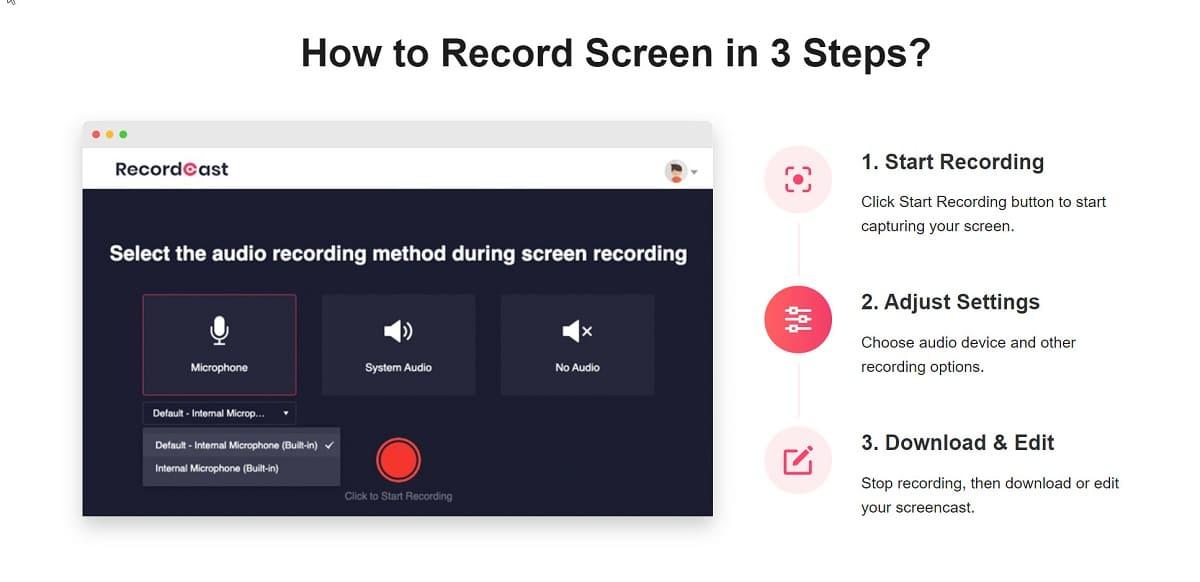 Empiece en 3 pasos