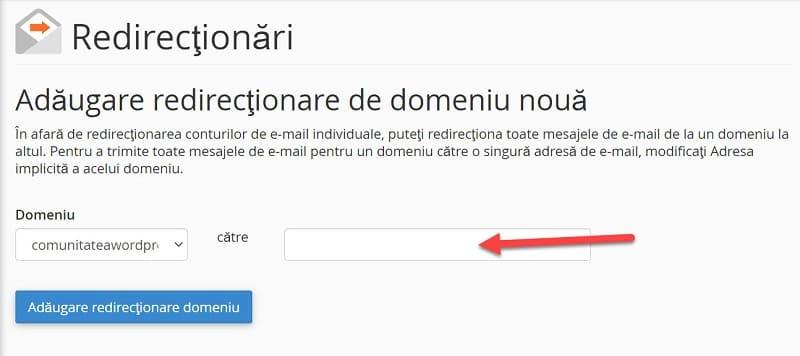 Agrega el nombre de dominio