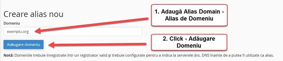 Agregar alias de dominio