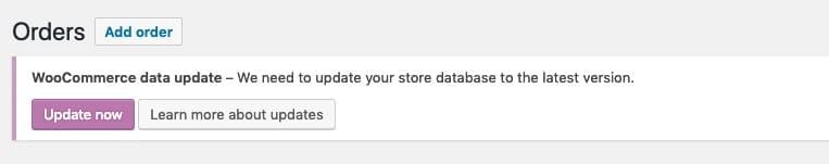 Notificación de actualización de datos de WooCommerce