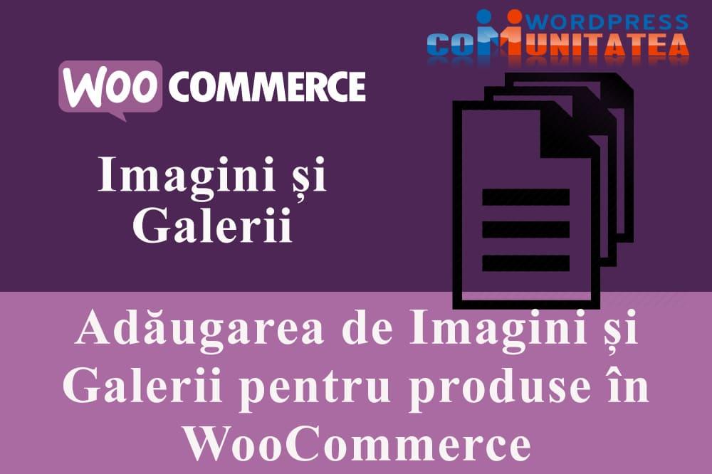 Adăugarea de Imagini și Galerii pentru produse în WooCommerce