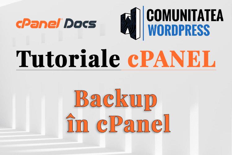 Backup Complet - Cum se realizează în interfața cPanel