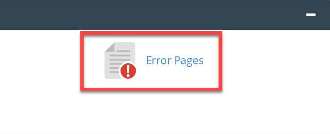 Páginas de error avanzado