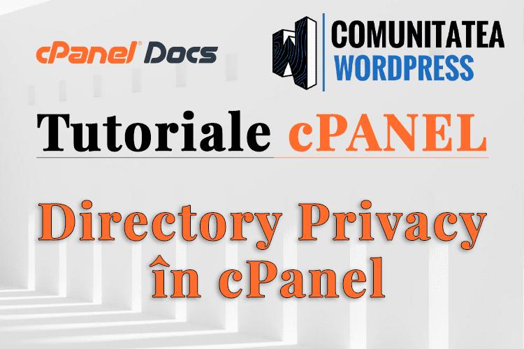 Confidențialitatea directorului în interfața cPanel