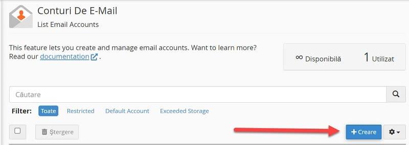 Crear cuenta de correo electrónico