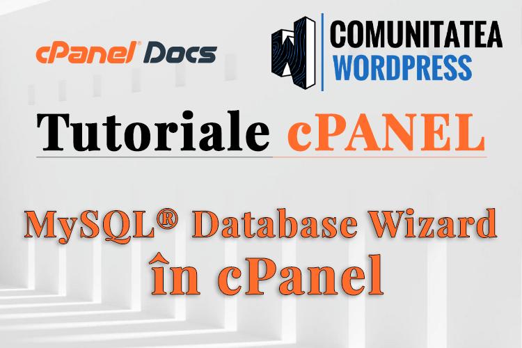 Cum să configurați o bază de date MySQL în cPanel