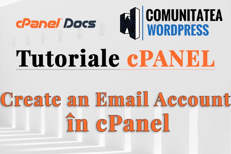 Cum să creați un cont de email în interfața cPanel