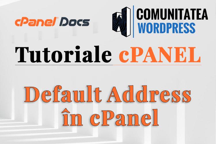 Cum să gestionați o Adresă implicită în interfața cPanel