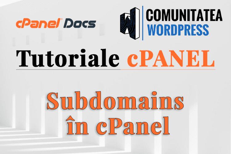 Cum se configurează un Subdomeniu în interfața cPanel