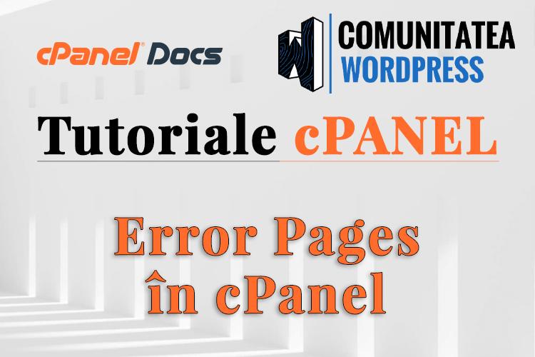 Cómo crear páginas de error personalizadas en cPanel