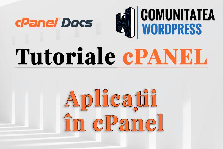 Gestionare secțiunea aplicații în cPanel