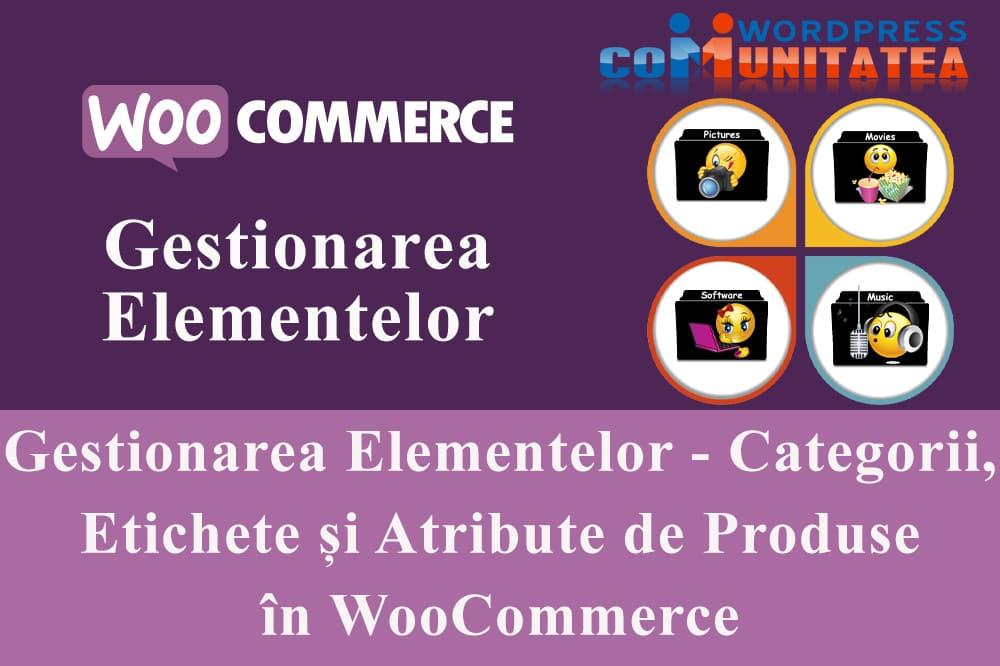 Gestionarea Elementelor - Categorii, Etichete și Atribute de Produse în WooCommerce