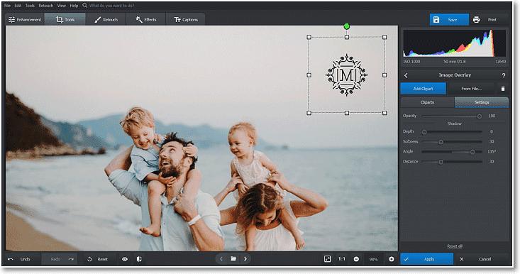 Aplicar logo en una foto