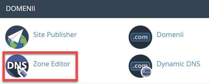 Editor de zona DNS