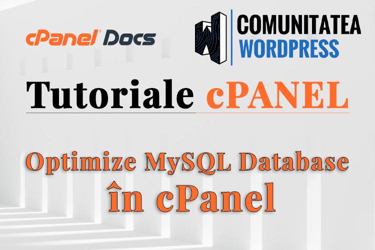 Cum se optimizează o bază de date MySQL folosind phpMyAdmin