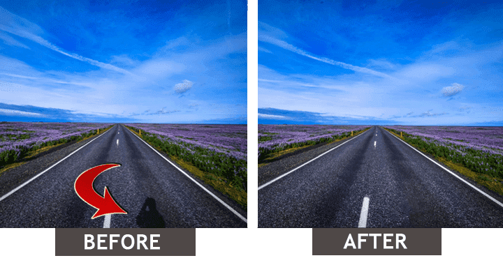 Eliminar la sombra de la imagen: antes-después