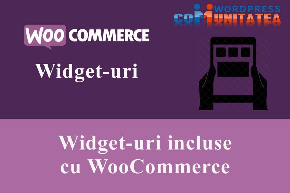 Widget-uri incluse cu WooCommerce