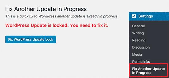 Arreglar otra actualización en curso