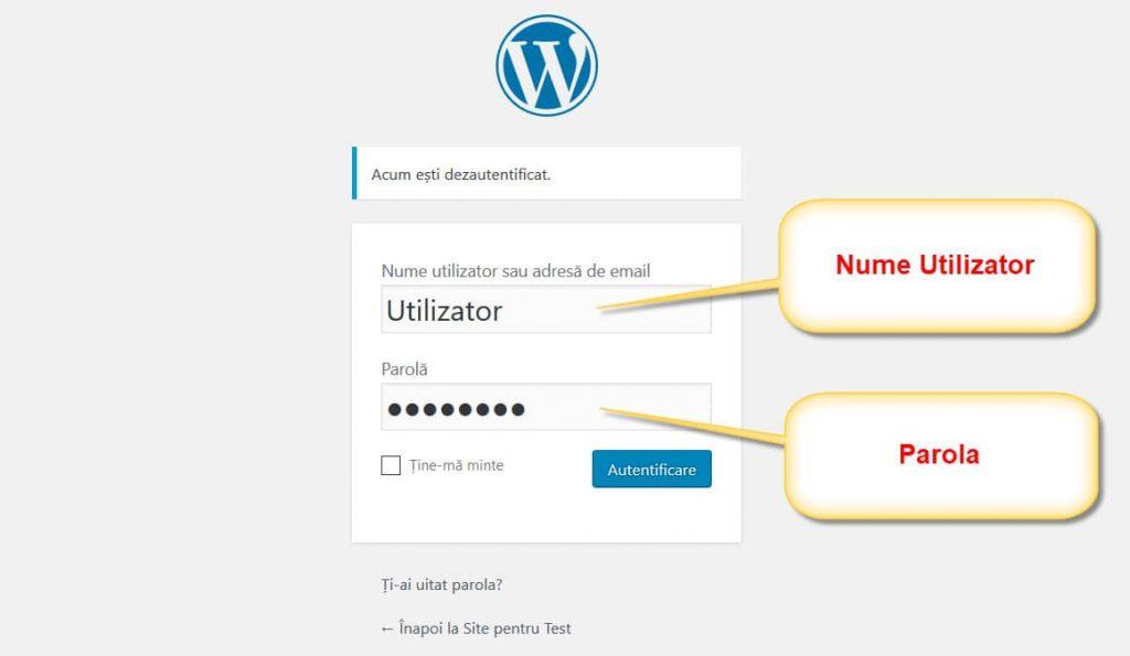 Inicio de sesión de WordPress
