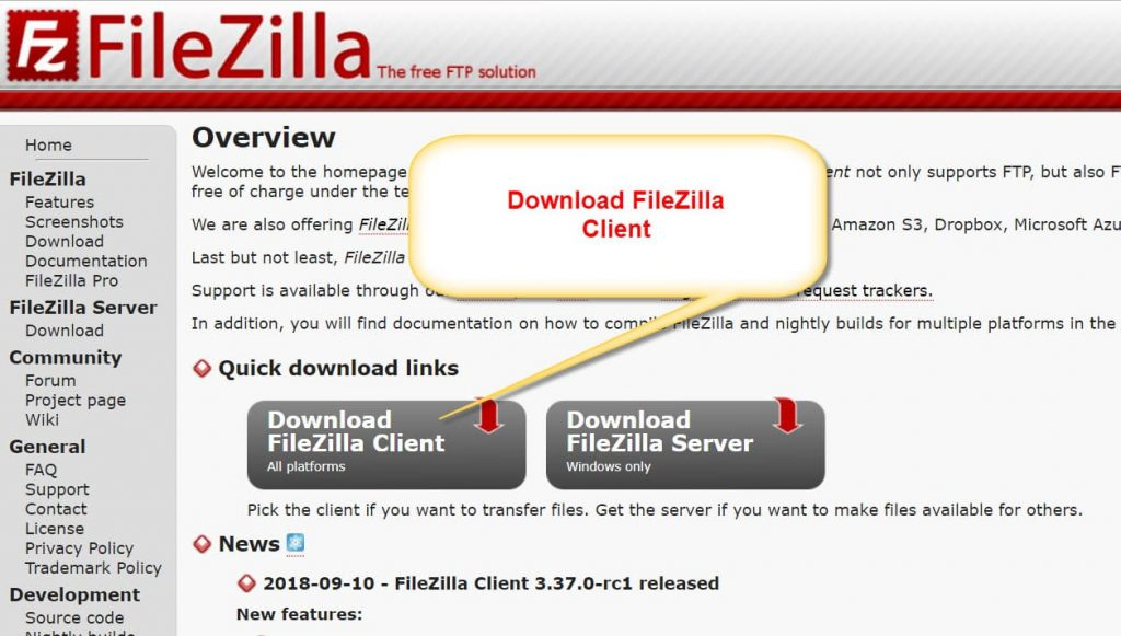 Descarga FileZilla