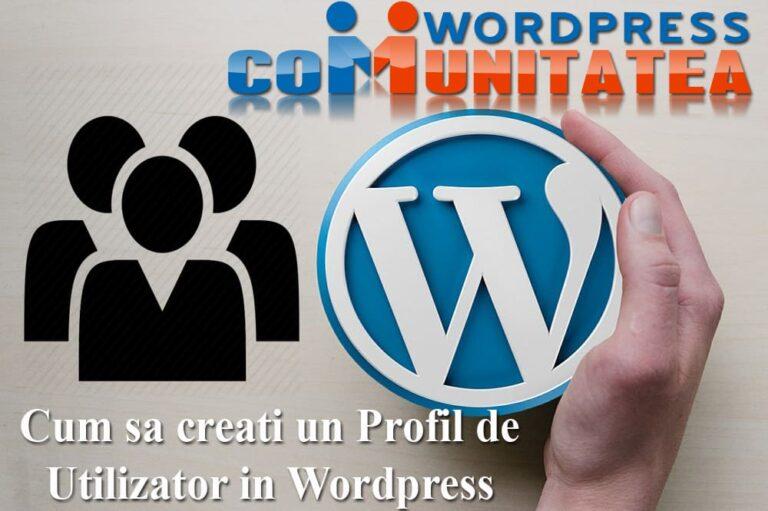 Cómo crear un perfil de usuario en Wordpress