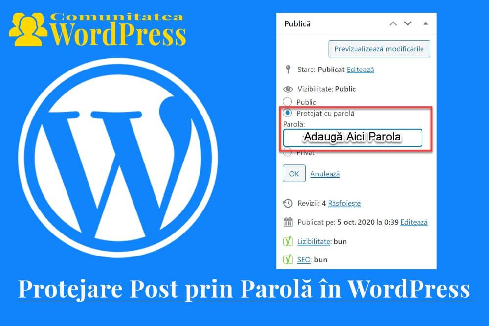 Cum să protejezi prin parolă o pagină sau o postare în WordPress