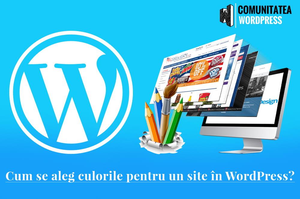 Cum se aleg culorile pentru un site în WordPress
