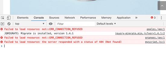 Error de carga de recursos: imagen tomada