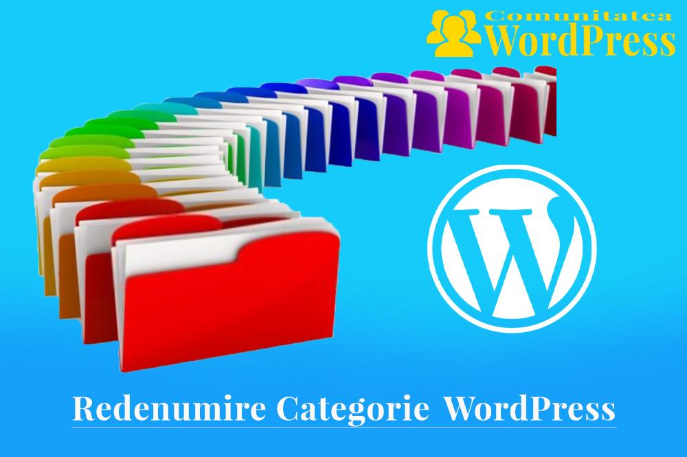 Redenumiți o Categorie în WordPress - Cum să procedați corect