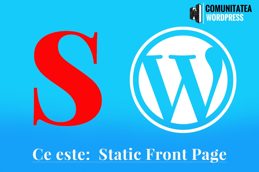 Ce este: Static Front Page - Prima pagină statică a unui WebSite