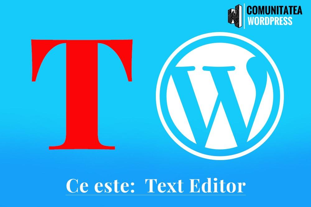 Ce este: Text Editor - Editor de Text
